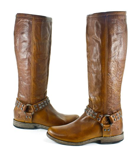 frye studded boots frye phillip studded harness boots cognac shoes 7 5