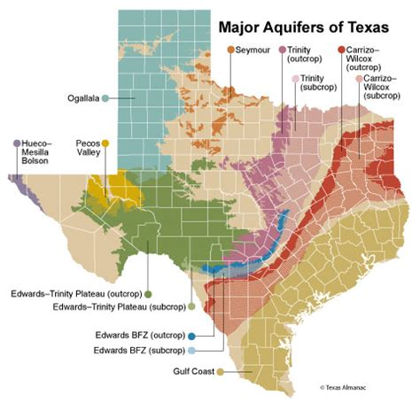 texas underground water maps aquifers by country