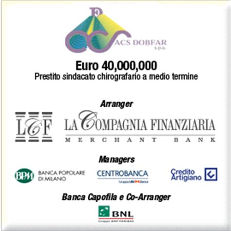 Banca Agrileasing Spa by Transactions La Compagnia Holding