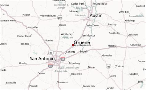 map of gruene texas gruene weather forecast