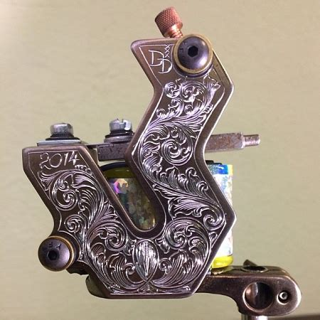 tattoo machine engraving engraved p 2a