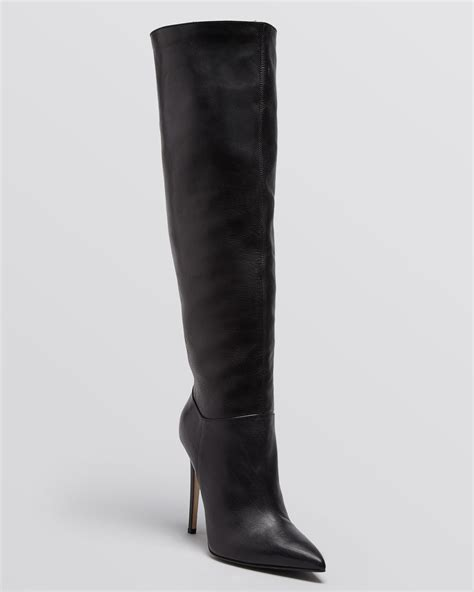 high heel boots black le silla pointed toe high heel boots in black