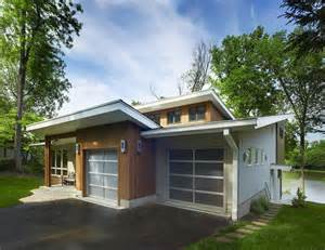 Deck With Awning Mid Century Modern Exterior Doors Bathroom Midcentury With