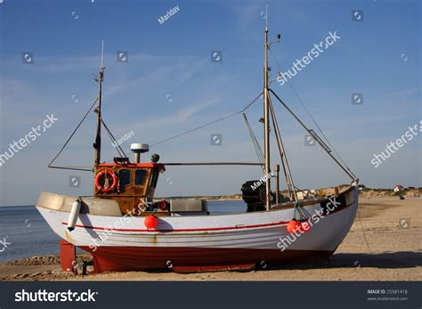 boat license denmark typical danish fishing boat on west stock photo 25581418