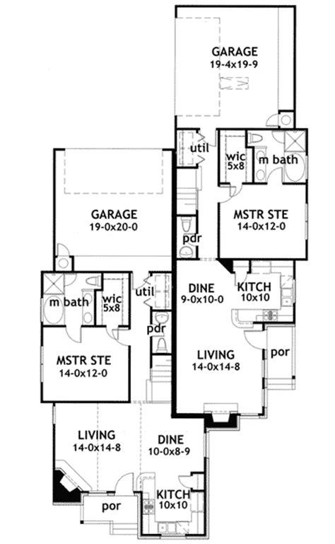 cool house plans duplex duplex house plan with unique units 16809wg 1st floor master suite cad available