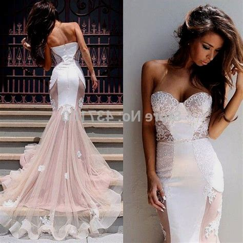 white mermaid prom dress Naf Dresses