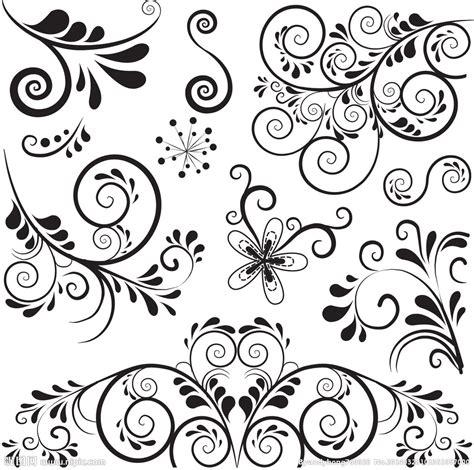 flower pattern black and white vector 好看的花纹图案源文件 画册设计 广告设计 源文件图库 昵图网nipic com