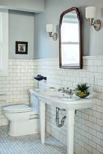Marble basketweave floor tile bathroom traditional with