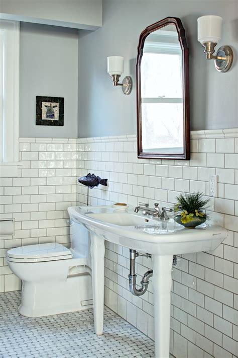 Wood Floor In Powder Room - marble basketweave floor tile bathroom traditional with antique mirror basketweave tile