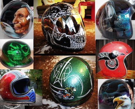 Are painted motorcycle helmets legal?   Motorbike Writer