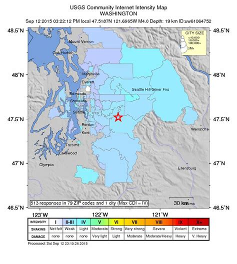 seattle earthquake map 4 0 earthquake shakes eastside no reports of damage the seattle times