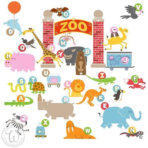 quot animals zoo alphabet with animals u wallzical zoo escape baby boys room