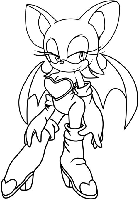 sonic rouge coloring pages coloring coloring pages
