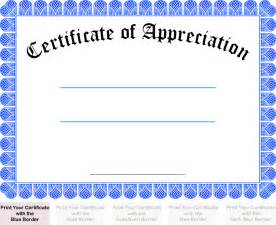 Printable Certificate Of Recognition Templates Free Pics Photos Certificates Of Appreciation Printable For