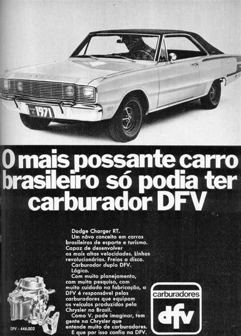 Carburador DFV (Dodge Charger RT) - 1971 - Propagandas