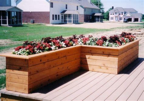 design planters deck planter box ideas decks by design of indiana