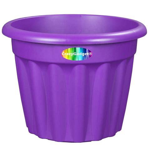 Purple Planter Pots by Crazygadget 174 Large Plastic Planter Pot Indoor Outdoor Use