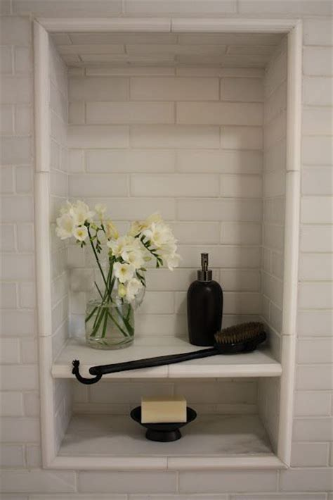 Bathroom Shower Niche Shower Niche With Shelf Bathroom Flower Marbles And Tile