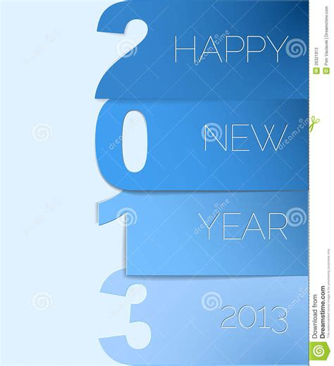 happy new year card vector happy new year 2013 card royalty free stock photography