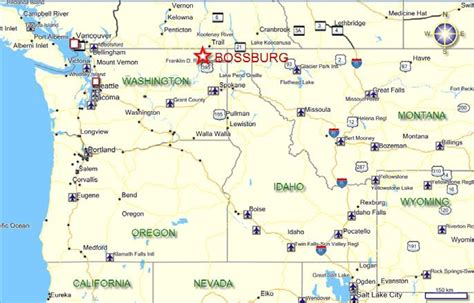 road map nw usa map of west usa my