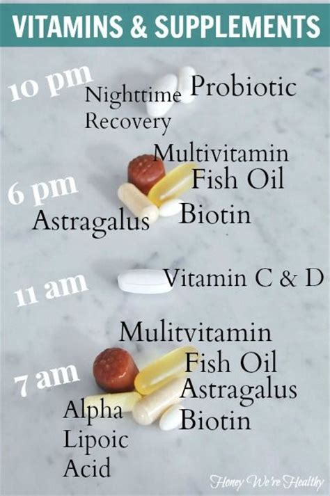 best vitamins to take vitamin schedule fit for