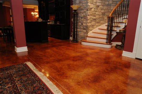 stained concrete floors los angeles acid  water based