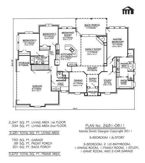 3 Story House Floor Plans 3 Bedroom One Story House Plans