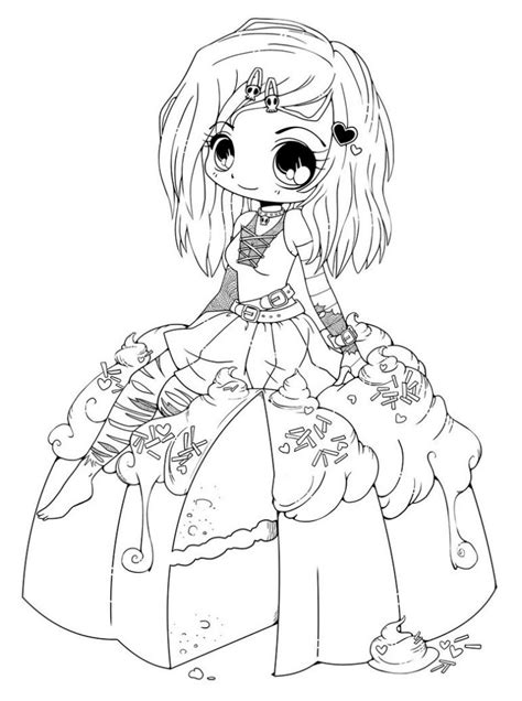 coloring page of a printable chibi coloring pages coloring me