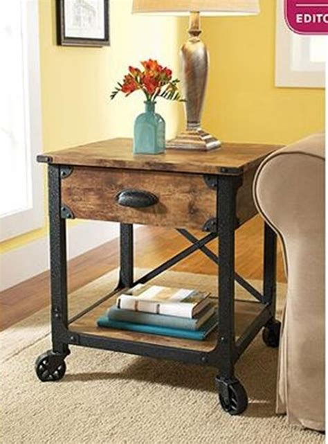Nightstand With Wheels by Rustic Stand Antique End Tables With Storage Drawers