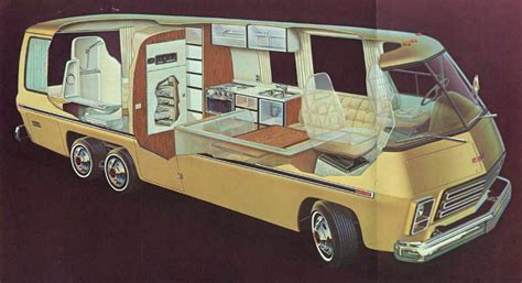 the 1974 gmc motorhome an rv with a younger
