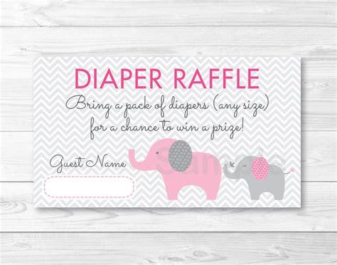 free printable diaper raffle tickets pink pink elephant chevron mom baby printable baby shower
