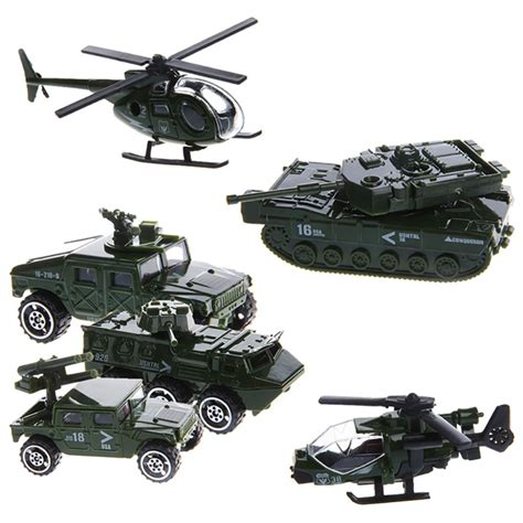 6pcs 1 87 scale car engineering aircraft vehicle kid model in