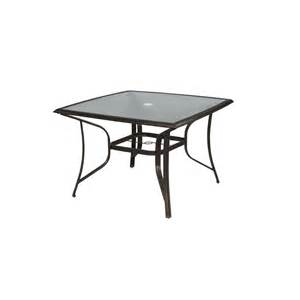 Hton Bay Patio Tables Upc 722938100699 Hton Bay Tables Altamira 44 In Square Patio Dining Table Dy9976 T