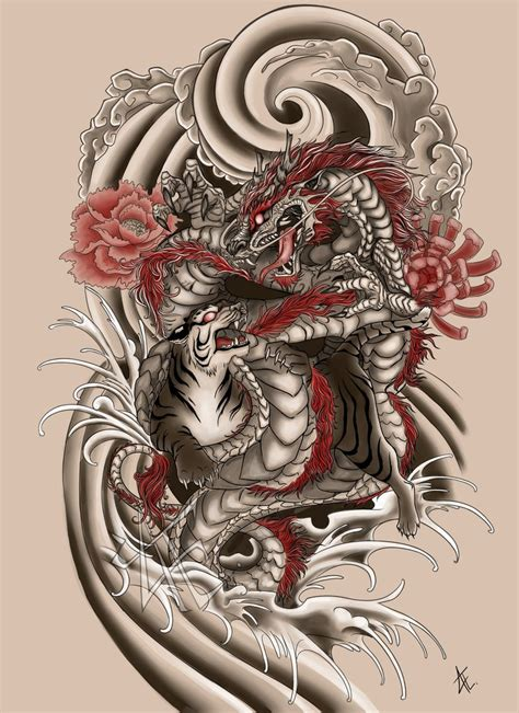 japanese art tattoo japanese commission by beautiful beasties on deviantart