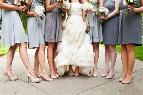 bridesmaids shoe color wedding bridesmaids color shoes
