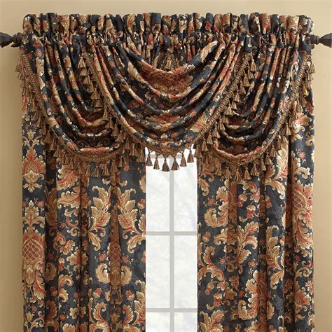 waterfall valance curtains croscill serafina waterfall swag 48 quot curtain valance
