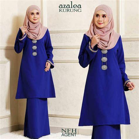 Baju Kurung Pahang Royal Blue kurung pahang azalea mesra penyusuan saeeda collections