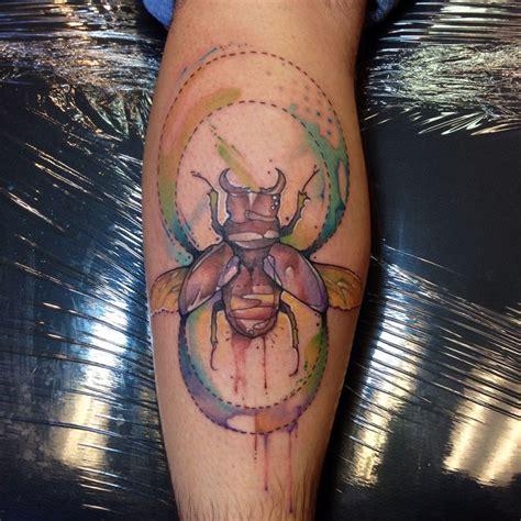 blue scarab tattoo justin nordine tattoos beetle