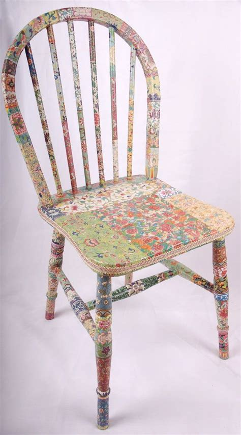 Decoupage Chair - wooden chair decoupage quot fleur quot