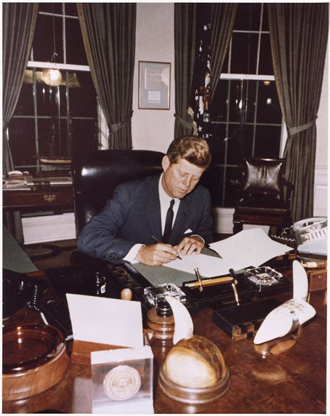 white house office file signing cuba quarantine proclamation president kennedy white house oval office