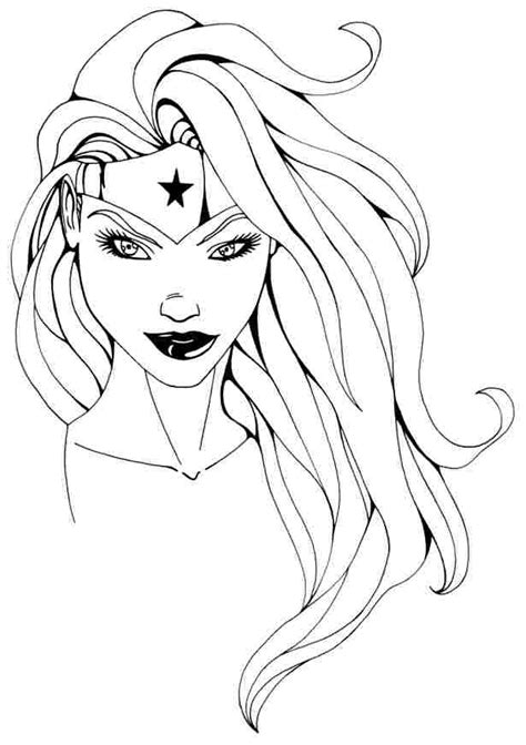 coloring page girl superhero coloring page wonder woman superheroes 78 printable