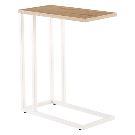 rustic oak c table the container store