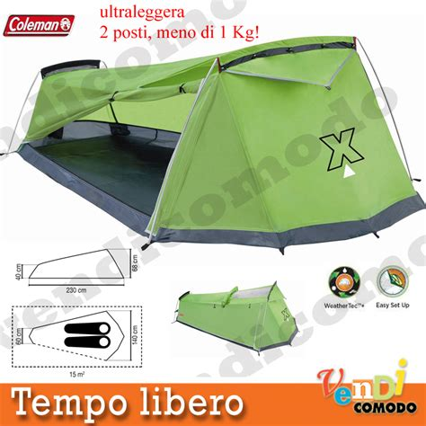 tenda trekking tenda coleman rigel x2 persone ultra leggera 1 kg compatta