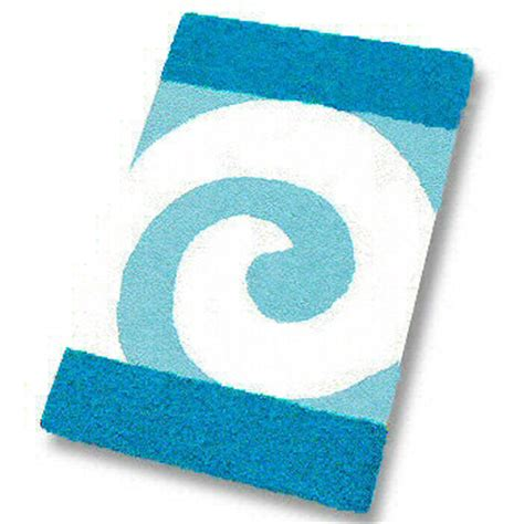 aqua bathroom rugs filou quality contemporary bath rugs swirl design