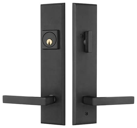 Times Square Entry Door Lock Handleset With Delta Lever Exterior Door Lock Sets