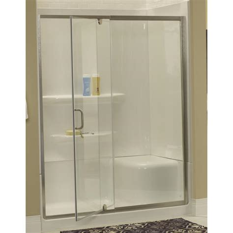 Lyons Shower Doors Lyons 60 Quot W X 72 Quot H Glass Pivot Shower Door At Menards 174