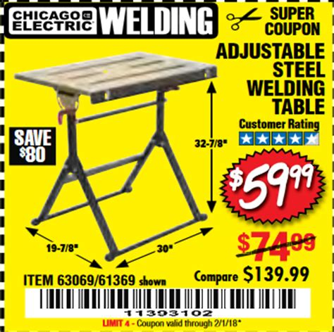 harbor freight welding table harbor freight tools coupon database free coupons 25