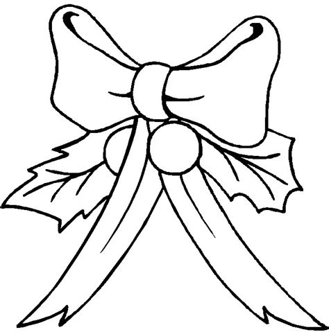 free christmas bows coloring pages