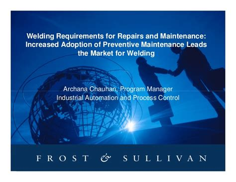 welding requirements for repairs and maintenance