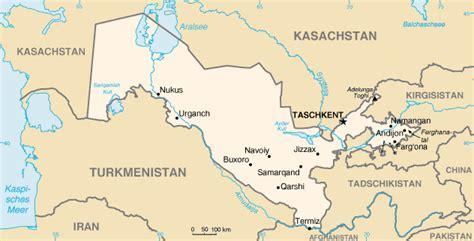 usbekistan regionen karte landkarte usbekistan kleine 220 bersichtskarte weltkarte